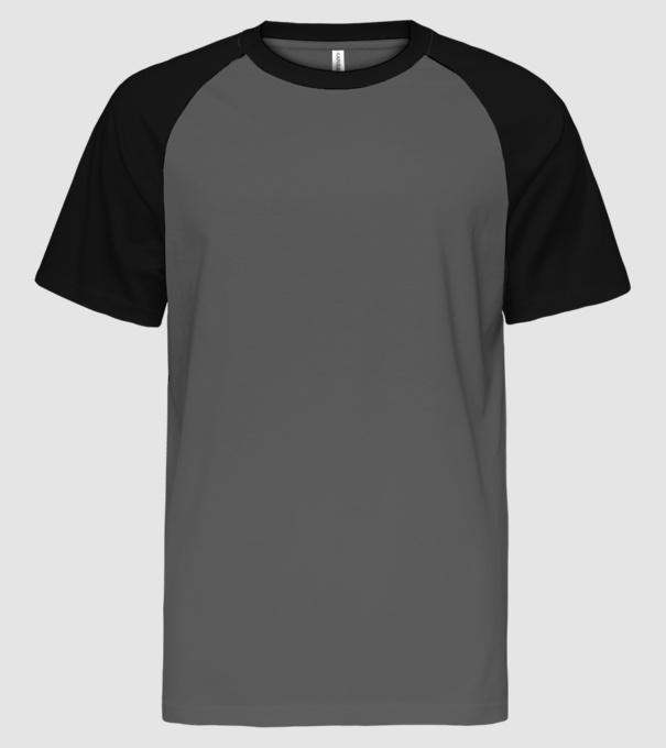 A pisztácia kifogyott - Bud Spencer minta szürke fekete pólón. Eleje. Férfi  Baseball Póló póló minta. Hátulja 78ebfecdb0